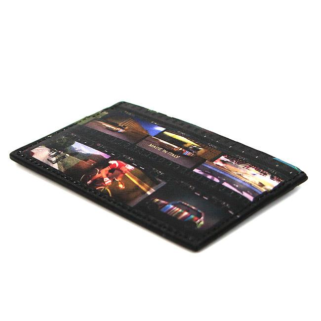 PAUL SMITH カードケース ポールスミス カードホルダー パスケース (ブラック×マルチカラー) WALLET CC CASE MINI FILM【M1A 4768 A40243】