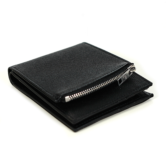 MAISON MARGIELA 財布 メゾンマルジェラ 二つ折り財布 グレインレザー (T8013/BLAK) Leather Wallets【S35UI0436-P0399】