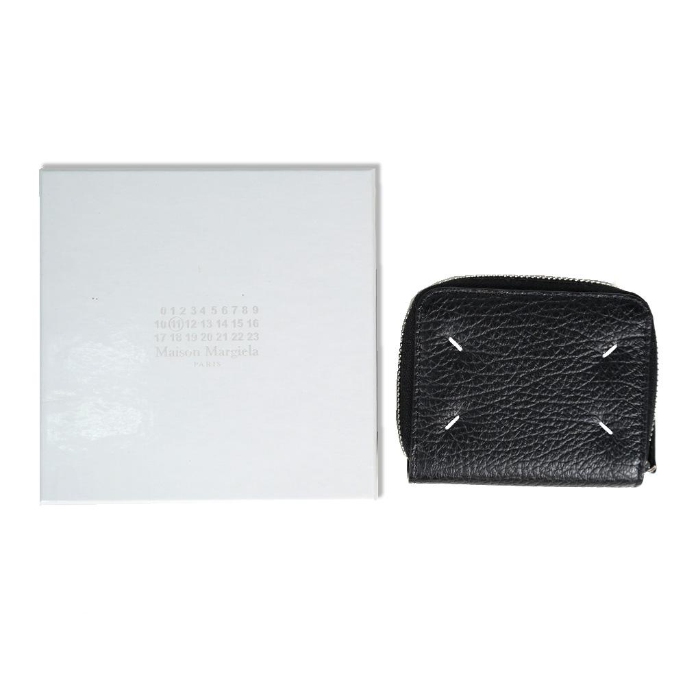 MAISON MARGIELA コインケース メゾンマルジェラ 二つ折り財布 コンパクト財布 カード入れ グレインレザー(T8013 / BLACK) 【S56UI0112-P0399】
