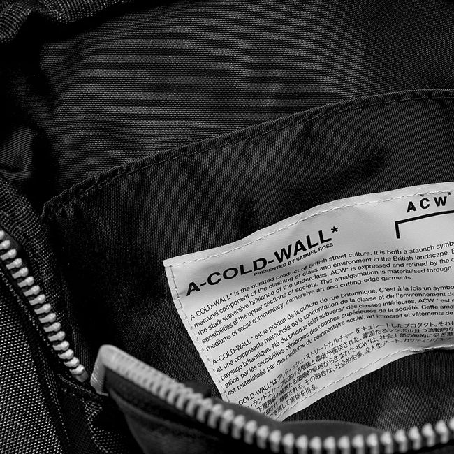 A COLD WALL ア コールド ウォール ボディバッグ ACW LOGO ABDOMEN BAG ベルトバッグ ウエストバッグ(BLACK) 【ACWUG006WHL】
