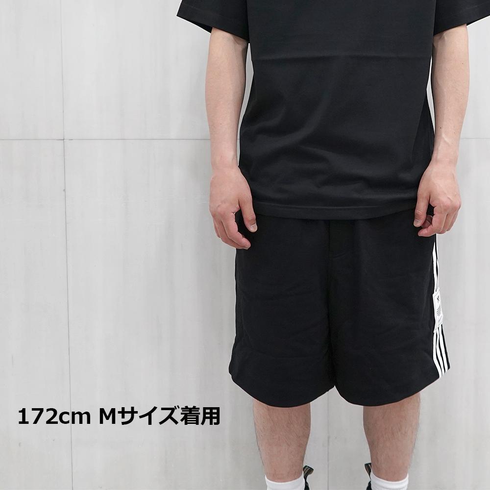 Y-3 ワイスリー スウェットショーツ (BLACK) M 3ストライプス リーショーツ M 3 STP TERRY SHORTS【H16336】