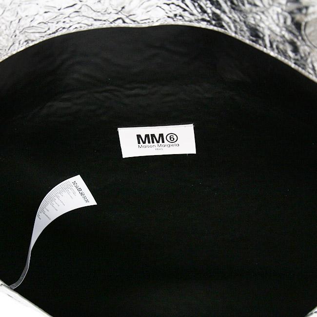 MM6 クラッチバッグ MAISON MARGIELA  エムエムシックス メゾンマルジェラ  LARGE ENVELOPE CLUTCH (T9002 / SILVER) 【S41UI0051-P1939】