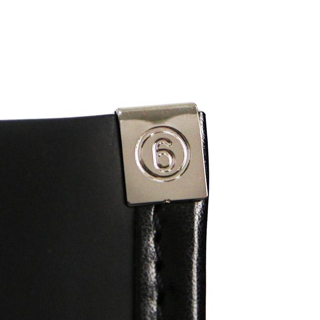MM6 バッグ  MAISON MARGIELA エムエムシックス メゾンマルジェラ  テディ キャンバス ショッパーバッグ  (T8013 BLACK)PRINT SHOPPER 【S41WC0050-PR012】