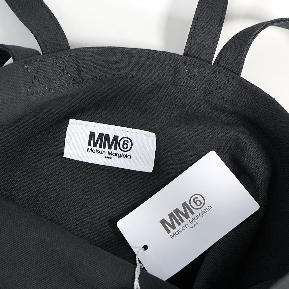mm6 メゾンマルジェラ トートバッグ MAISON MARGIELA エムエムシックス メゾンマルジェラ 2WAYバッグ キャンバス ショルダーバッグ ロゴ バッグ(全2色)【S54WC0058-P3631】