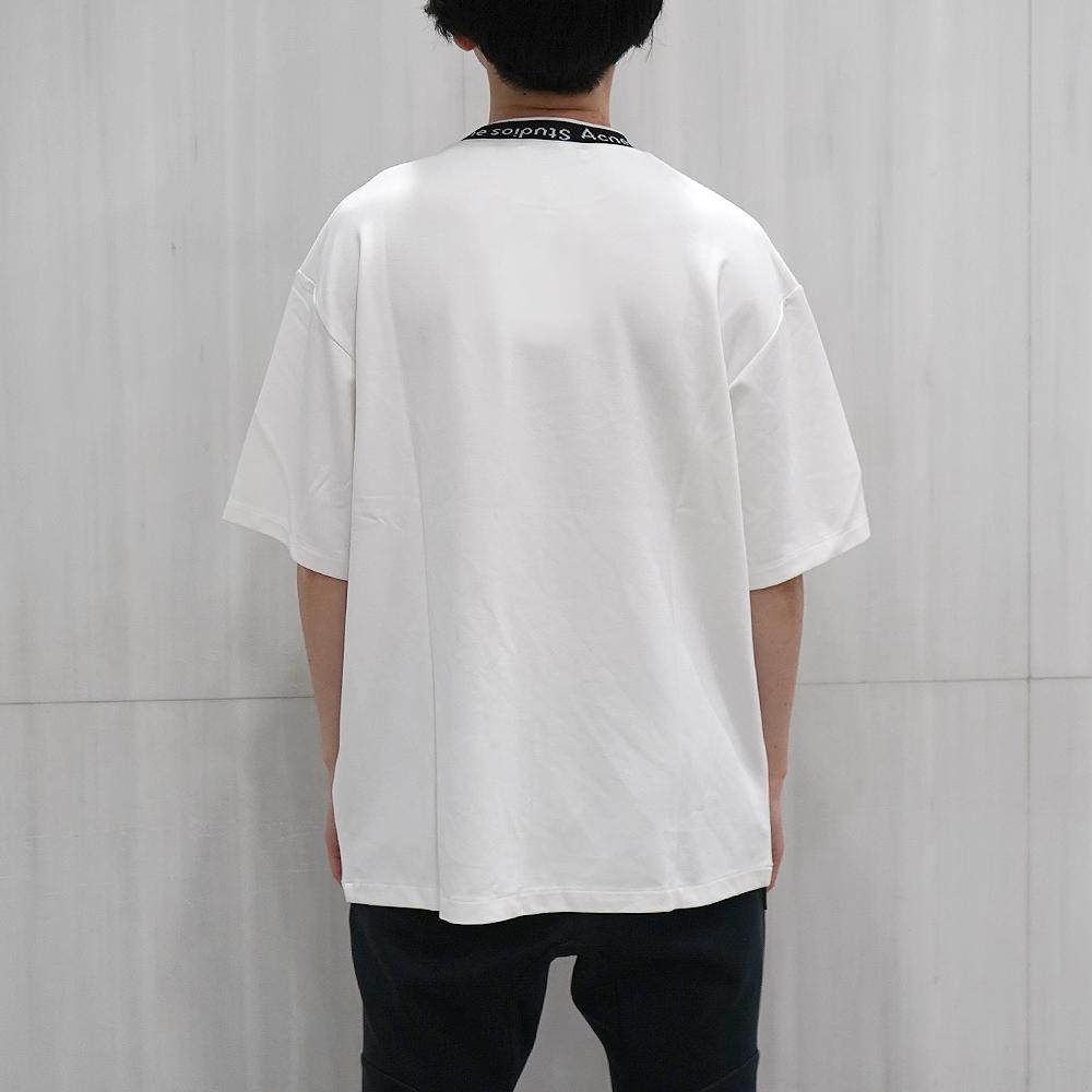 アクネ ストゥディオズ Acne Studios Extorr Logo Tシャツ メンズ ロゴバインディングTシャツ(全2色)【BL0221/FN-MN-TSHI000243】