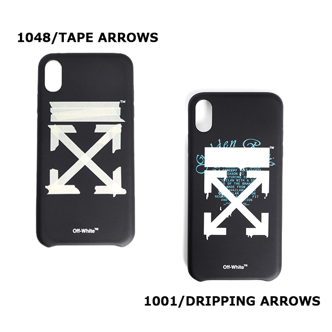 OFF-WHITE iphoneケース <br>オフホワイト IPHONE CASE XS MAX<br>TAPE ARROWS / DRIPPING ARROWS iphone XS MAX 対応 (全2柄)<br>【OMPA011R202940021048 / OMPA011R202940051001】