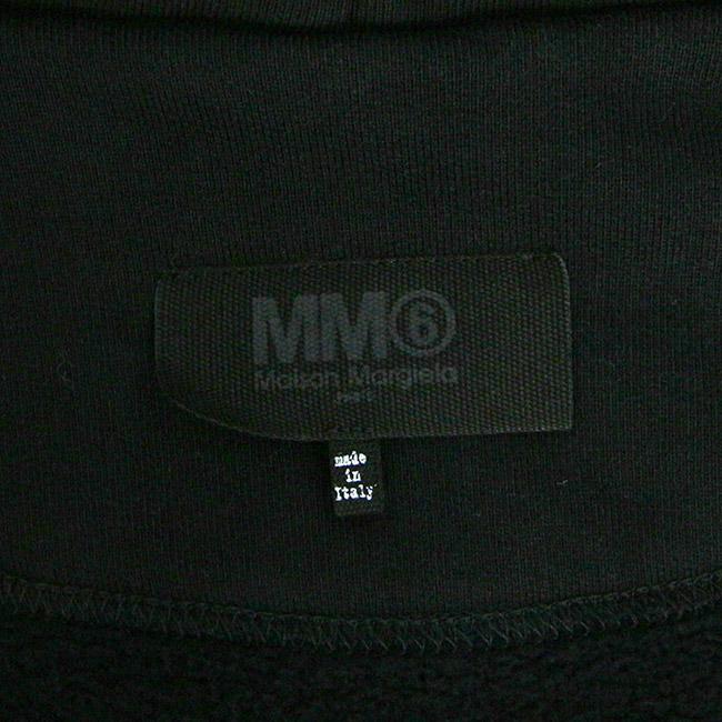 MM6 MAISON MARGIELA スウェット HOODIE  エムエムシックス メゾンマルジェラ  ドロップショルダー オーバーサイズ ジップアップパーカー (900 BLACK)OVERSIZE FULL ZIP HOODY 【S52GU0064-S25387】