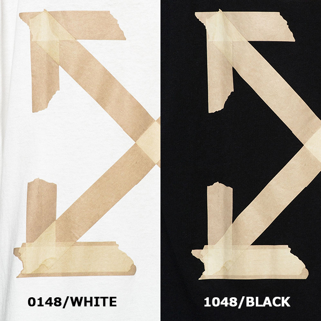 OFF-WHITE Tシャツ オフホワイト メンズ 半袖 アロー TAPE ARROWS OVER S/S TEE(全2色) 【OMAA038R20185002】