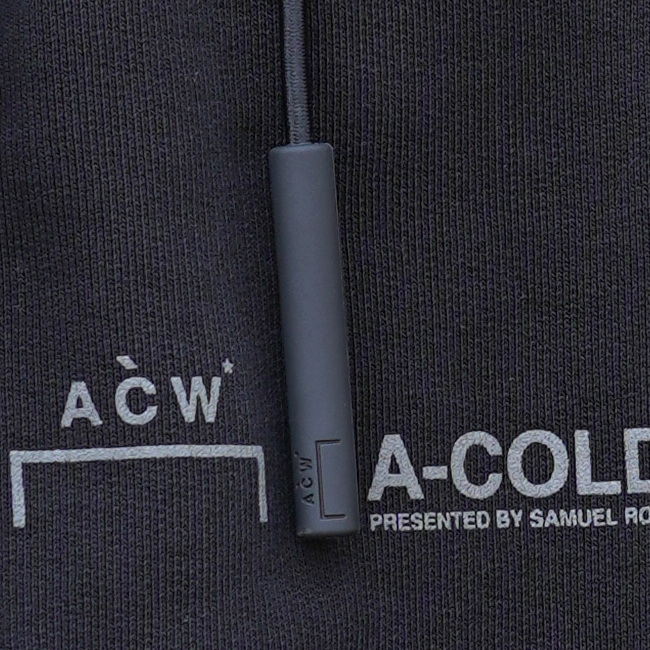 A-COLD-WALL ア コールド ウォール パーカー ACW BRANDED HOODIE SWEAT フーディー スウェット LOGO ZIP HOODY リフレクタープリント (BLACK) 【ACW-MW002WHL】