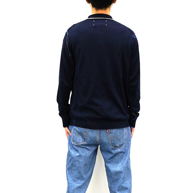 マルジェラ ポロシャツ 4ステッチ メゾンマルジェラ MAISON MARGIELA ニット 長袖 メンズ KNIT 【S50HA0979-S17681】