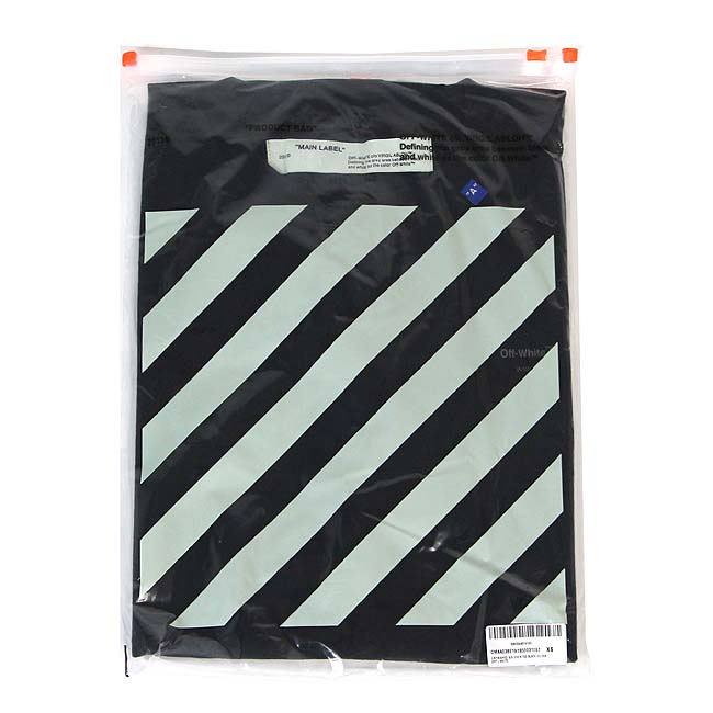 OFF-WHITE Tシャツ オフホワイト メンズ 半袖 Tシャツ UNFINISHED S/S SLIM TEE(全2色) 【OMAA027E19185003】