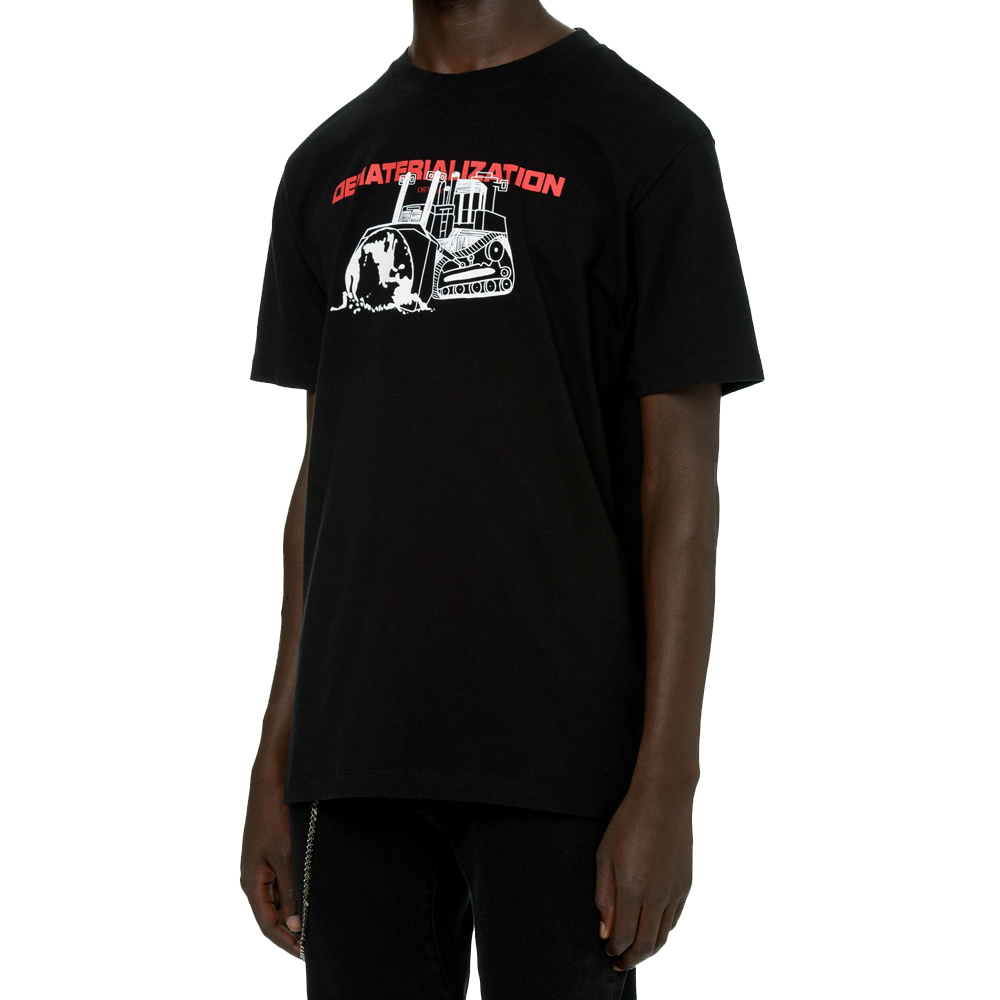 OFF-WHITE Tシャツ オフホワイト メンズ 半袖 Dematerialization T-shirt (1025 / BLACK RED) 【OMAA038R21JER005】