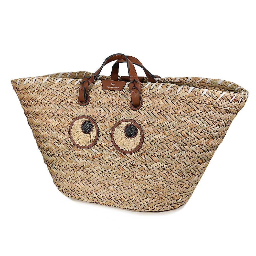 アニヤハインドマーチ ANYA HINDMARCH かごバッグ レディース ハンドバッグ ナチュラルシーグラスバッグ Large Paper Eyes Basket 【5050925155113】