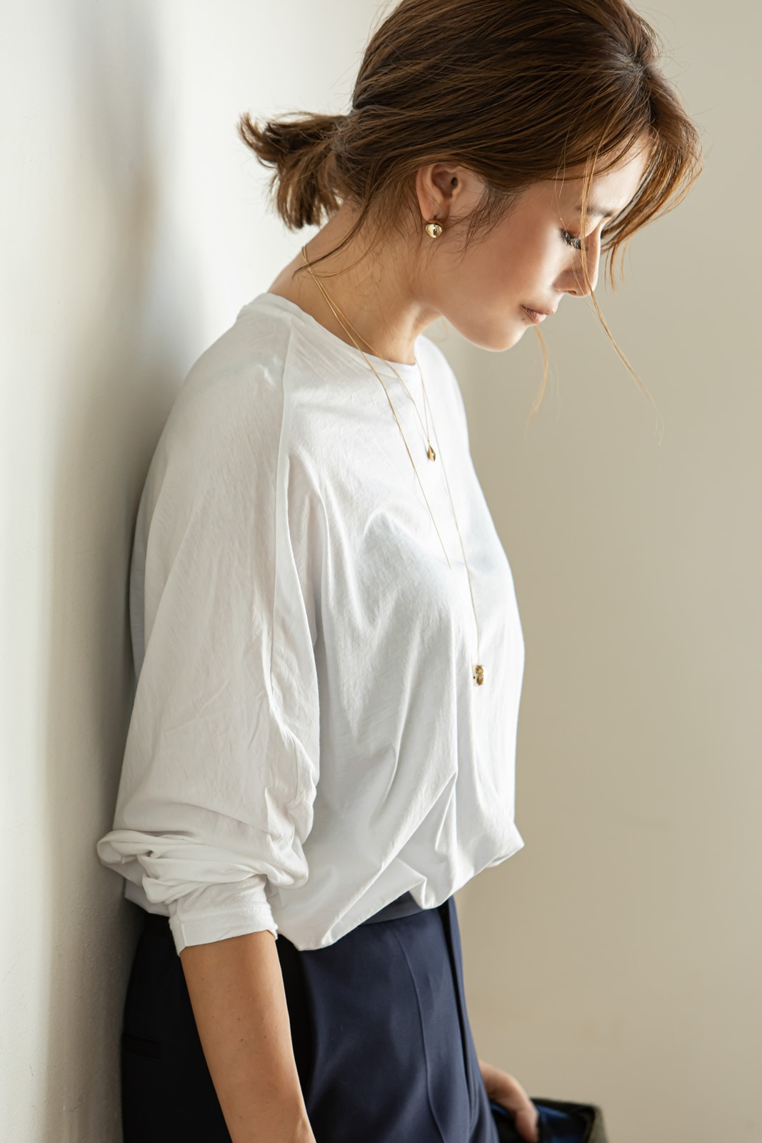 【SOLD OUT】ボールロングネックレス ゴールド