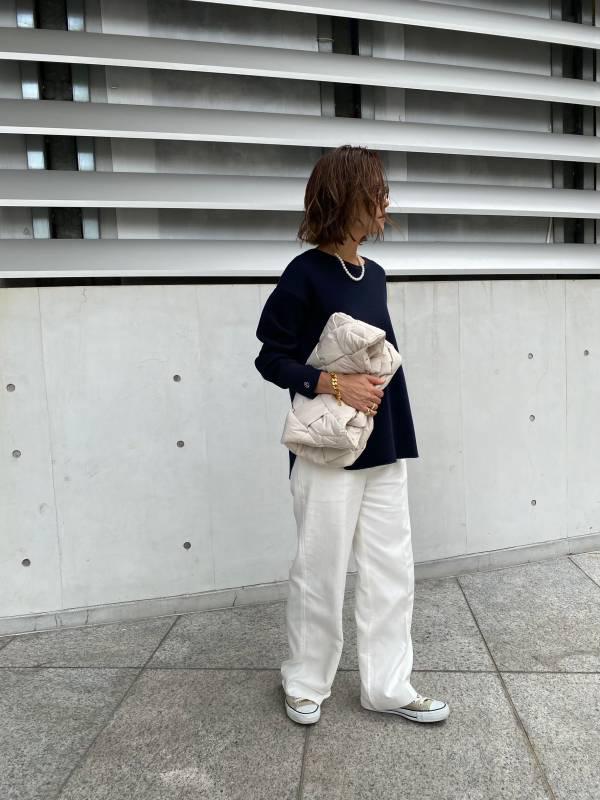 【SOLD OUT】ロゴ刺繍ワッフルロンT ネイビー