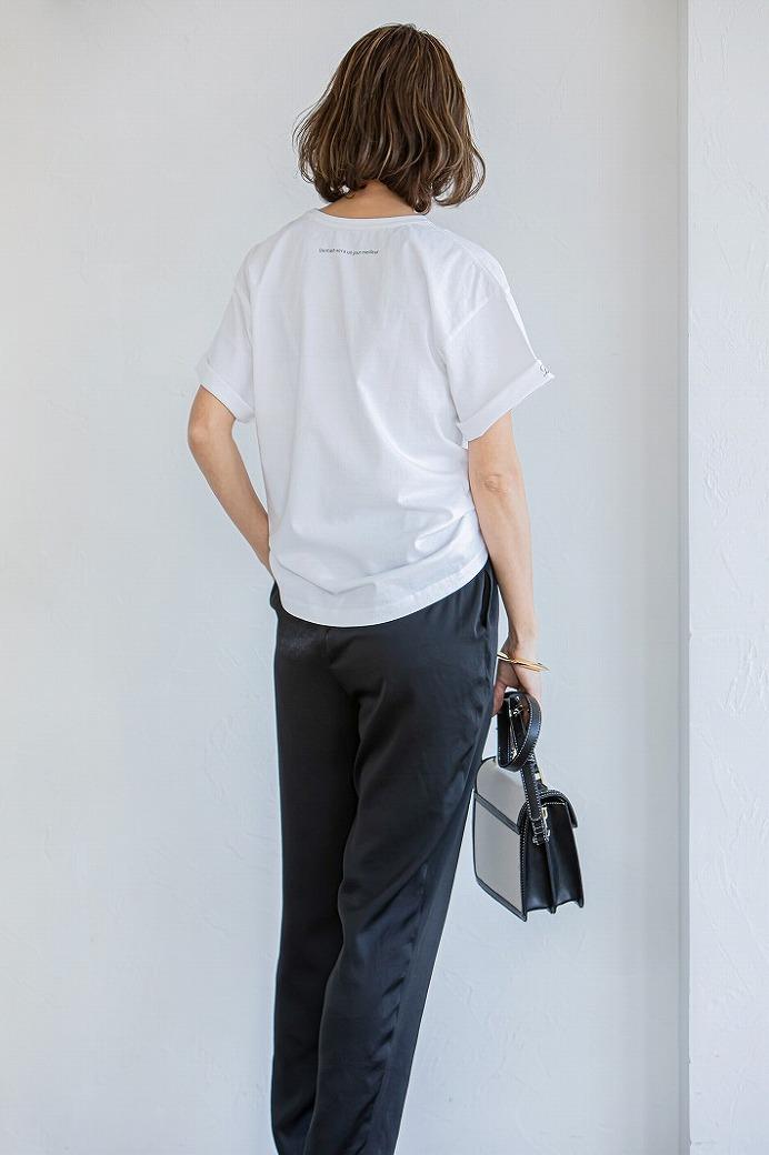 【通常販売】カラーサテンPants ブラック
