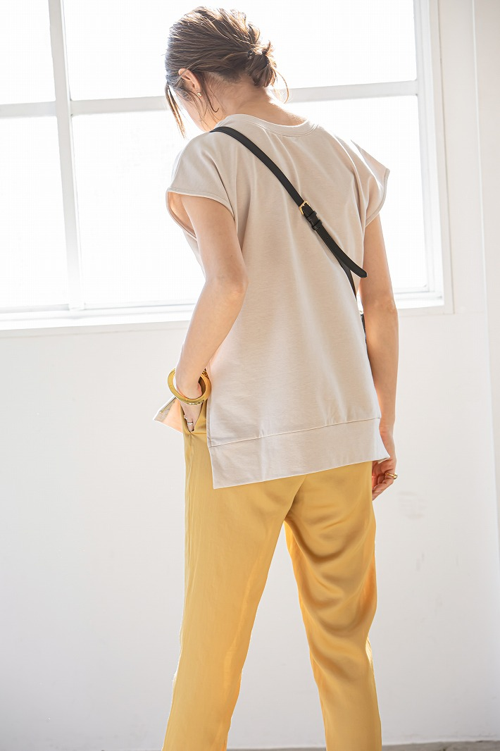 【SOLD OUT】Zip up裏毛Tops Lベージュ