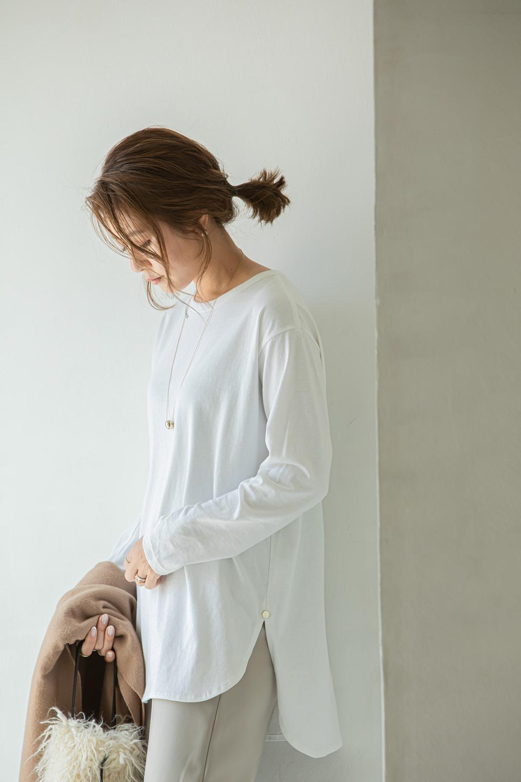 【VERY10月号掲載商品】サイドスリットZIPパンツ ベージュ