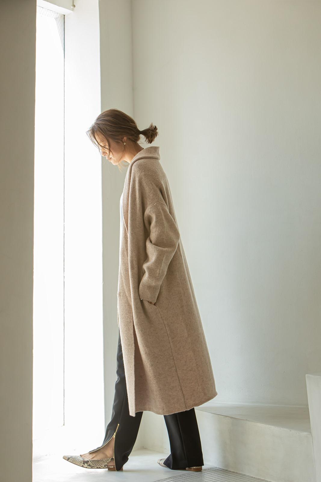 【VERY10月号掲載商品】サイドスリットZIPパンツ ブラック