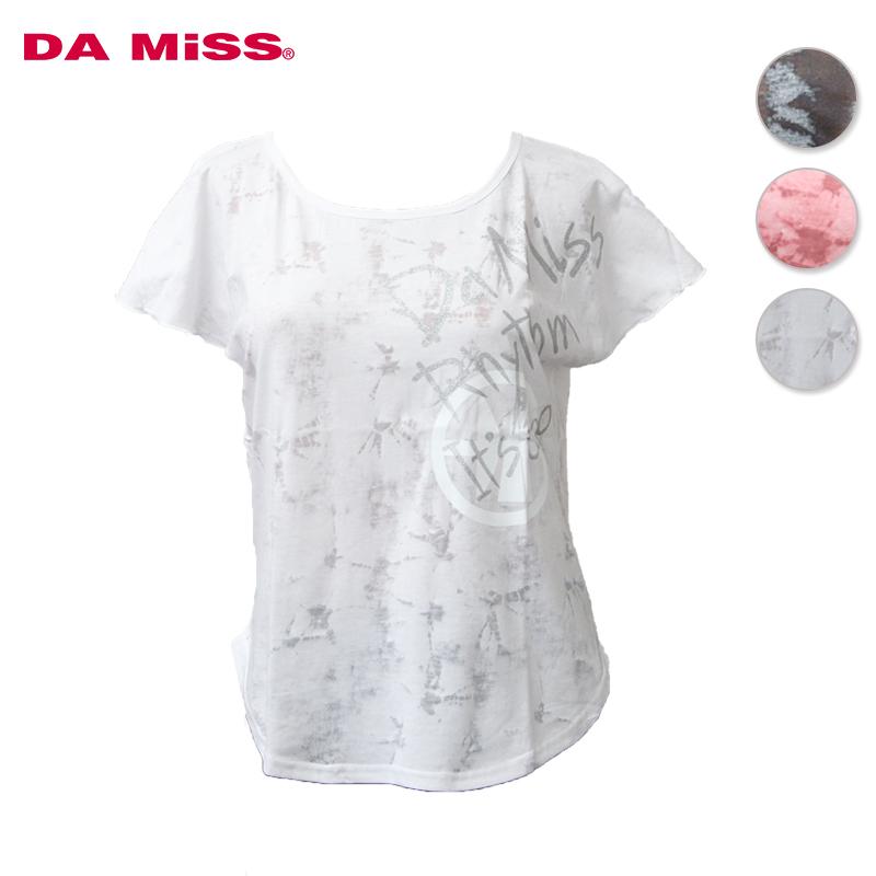 DAMISS フィットネスウェア 透かしTシャツ 9313-0123 DAMISS 【ダミス】 レディース ヨガ ダンス ウェア 9313-0123