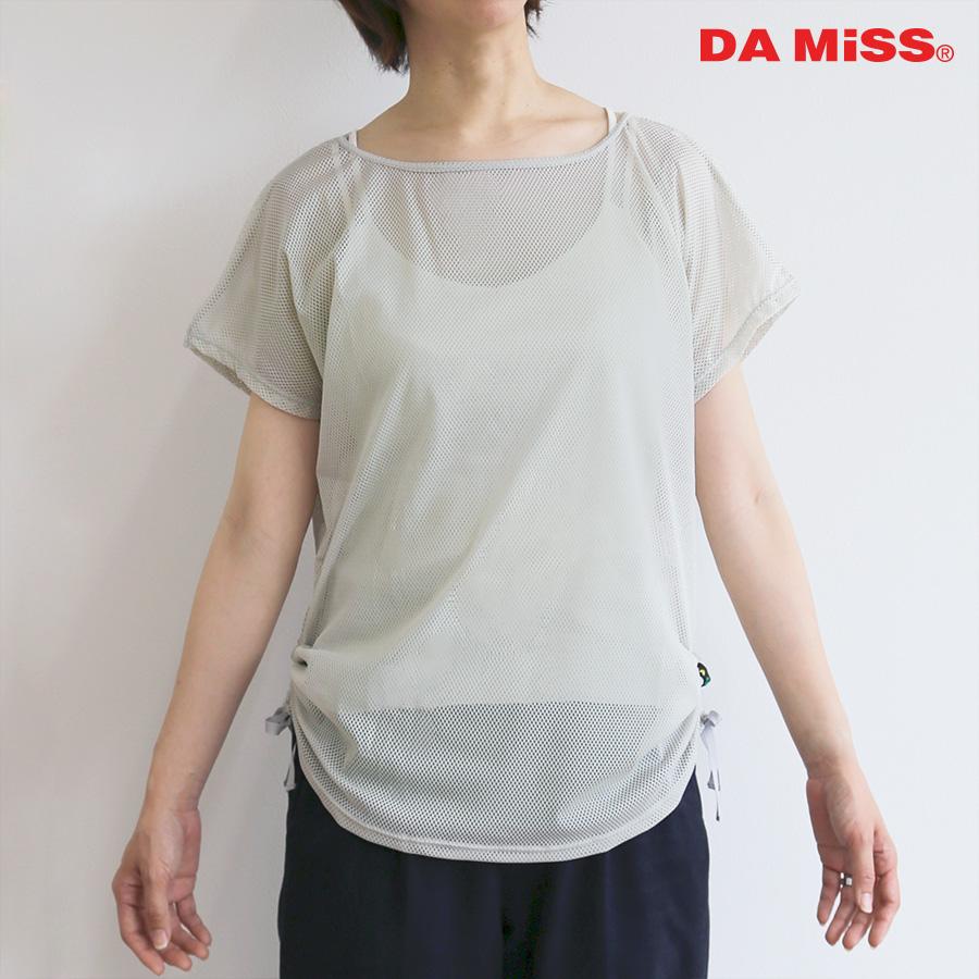 DAMISS フィットネスウェア 透かしTシャツ 9912-1213 DAMISS 【ダミス】 レディース ヨガ ダンス ウェア 9912-1213