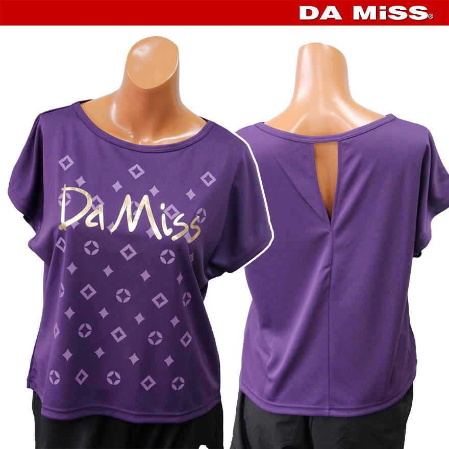 DAMISS フィットネスウェア 【吸水速乾】 ゴールド箔 Tシャツ DAMISS 【ダミス】 レディース ヨガ ダンス ウェア 9314-0168