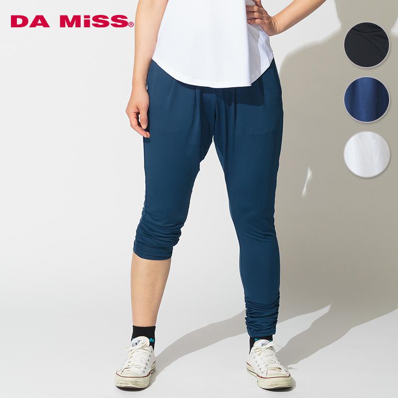 DAMISS フィットネスウェア ギャザー付レギンス DAMISS 【ダミス】 レディース ヨガ ダンス ウェア 9114-1028