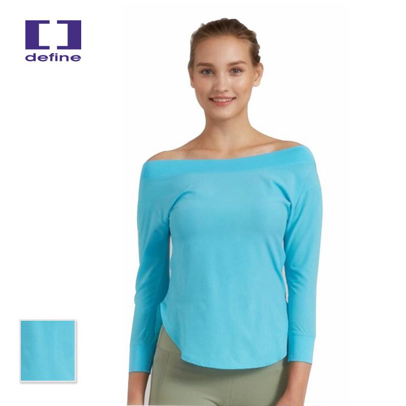 DEFINE フィットネスウェア トップス ロングTシャツ ランニングシャツ スポーツトップスフィットネスシャツ 3915-0503