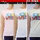 【ダミス】 フィットネスウェア レディース T-シャツ 8414-0163 パステルカラーと着心地の良い素材が特徴
