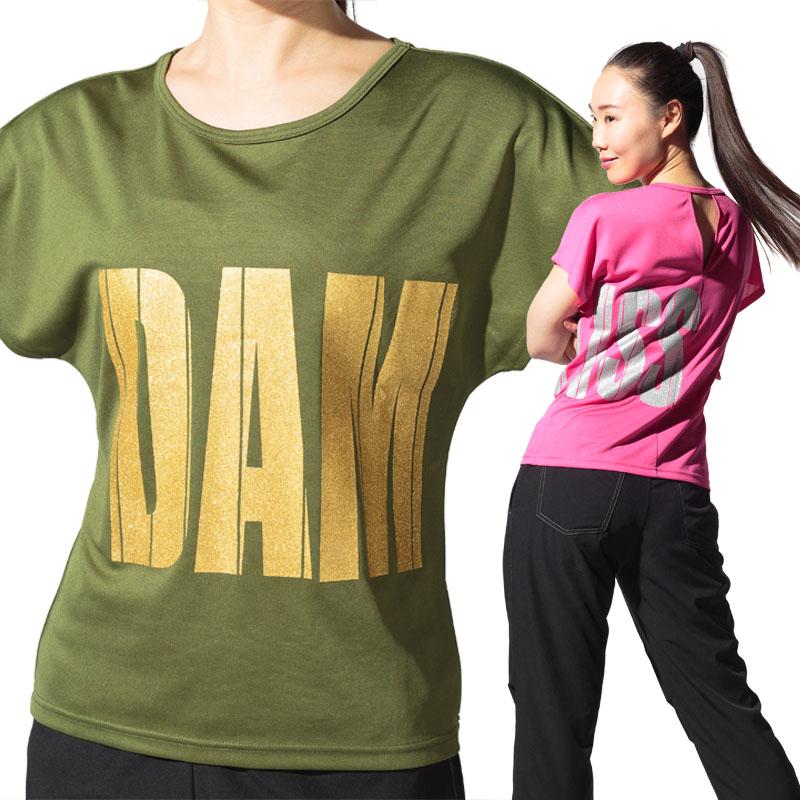 DAMISS フィットネスウェア 【吸水速乾】 グリッターインパクトロゴ DAMISS 【ダミス】 レディース ヨガ ダンス ウェア1014-0307