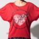 DAMISS フィットネスウェア 【吸水速乾】 ハートリングTシャツ DAMISS 【ダミス】 レディース ヨガ ダンス ウェア1014-0302