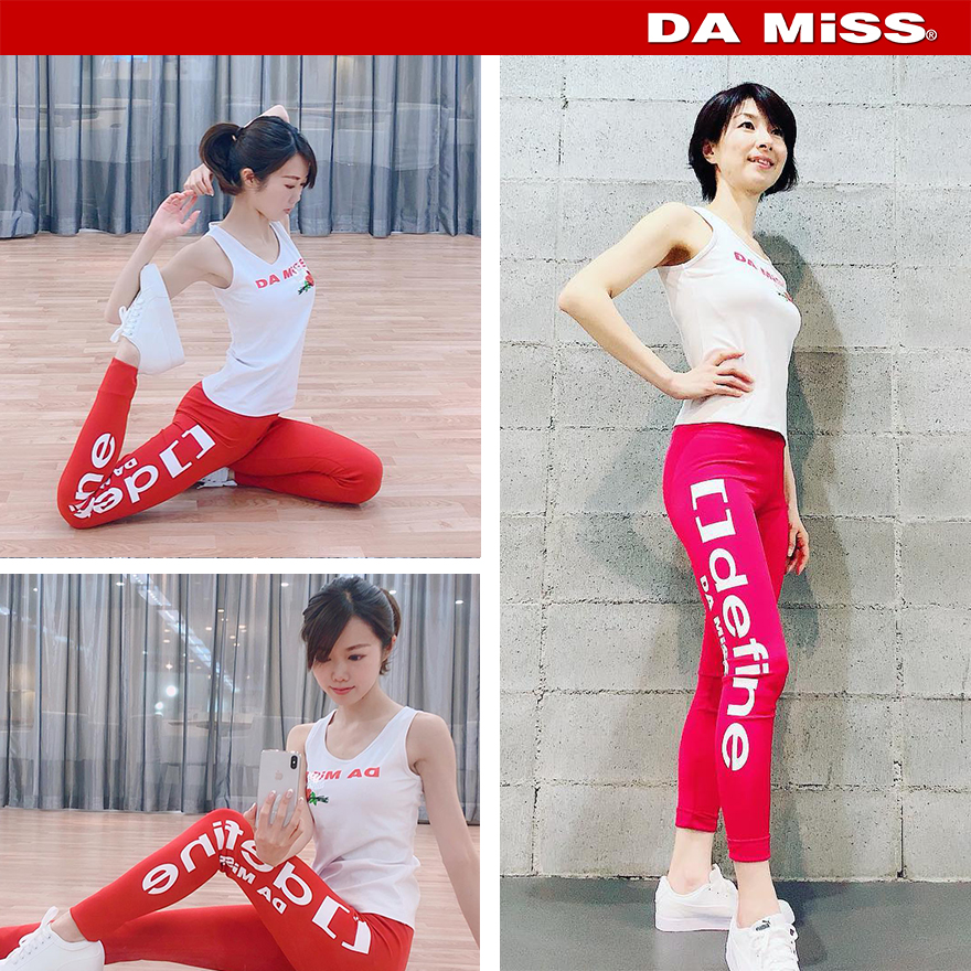 DAMiSS 【ダミス】 フィットネスウェア レギンス 9219-1013 レディース ダンス ウォーキング ミセスインターナショナル着用レギンス