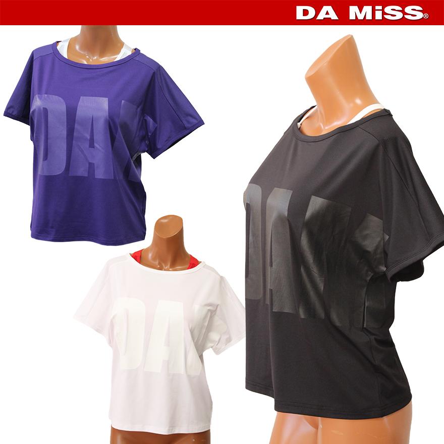 DAMISS フィットネスウェア ドルマンロゴシャツ Tシャツ DAMISS 【ダミス】 レディース ヨガ ダンス ウェア 9313-0153