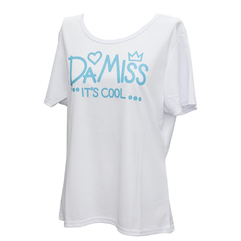 DAMISS フィットネスウェア 【吸水速乾】 ハート&王冠Tシャツ DAMISS 【ダミス】 レディース ヨガ ダンス ウェア 9314-0138