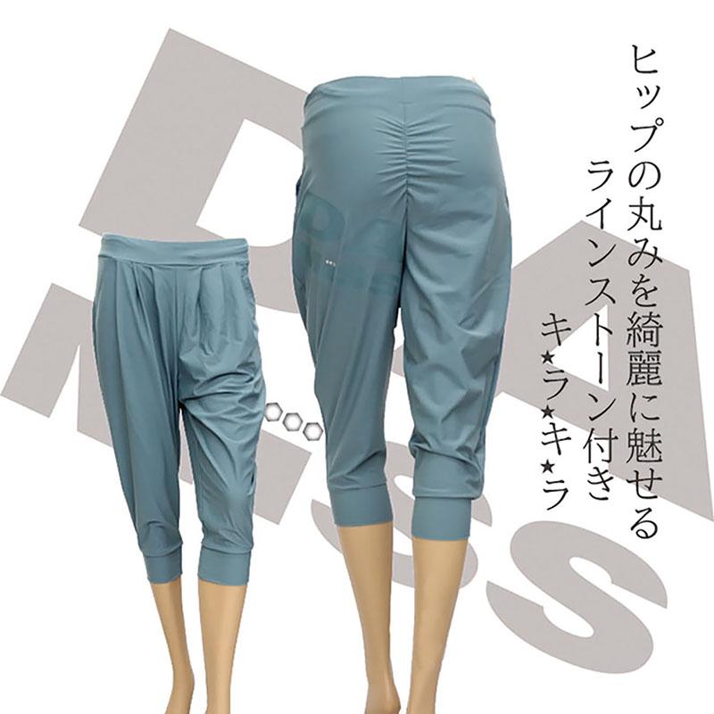 DAMiSS 【ダミス】 フィットネスウェア バックプリントカプリパンツ 1131-0303
