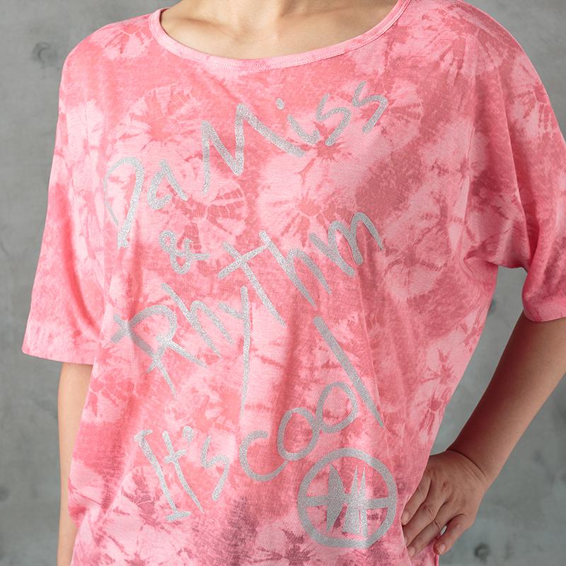 DAMISS フィットネスウェア 透かしTシャツ 9313-0113 DAMISS 【ダミス】 レディース ヨガ ダンス ウェア 9313-0113
