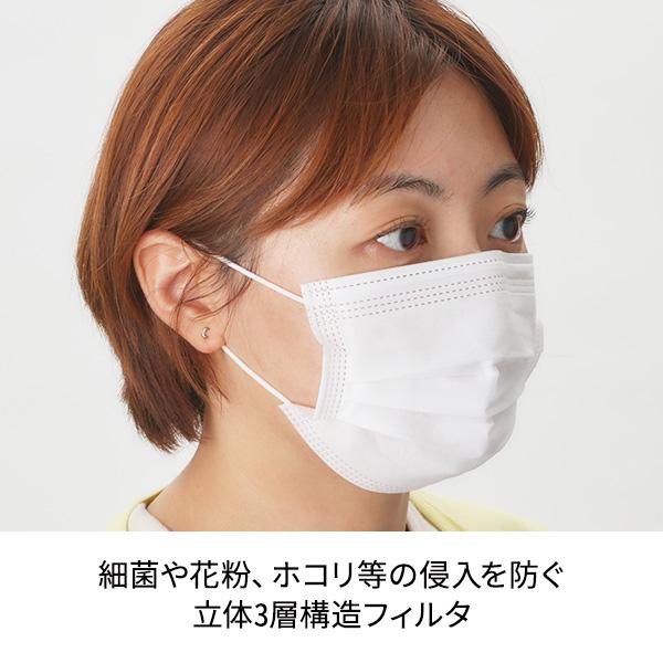 【3層フィルター】使い捨てフェイスマスク DELUXE 三層 50枚入