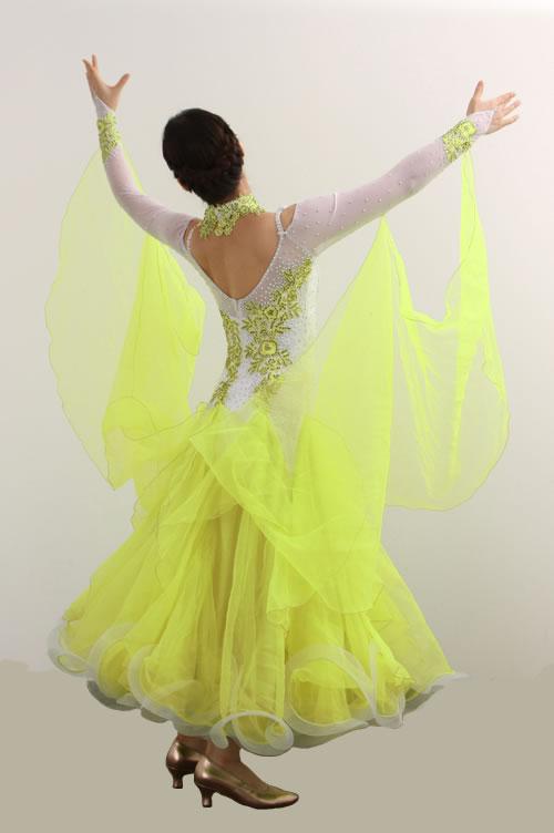 ダンスドレス モダン WQ-MD3-1yl/白+黄