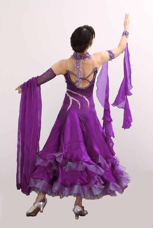 ダンスドレス モダン WQ-MD1-1pl/紫