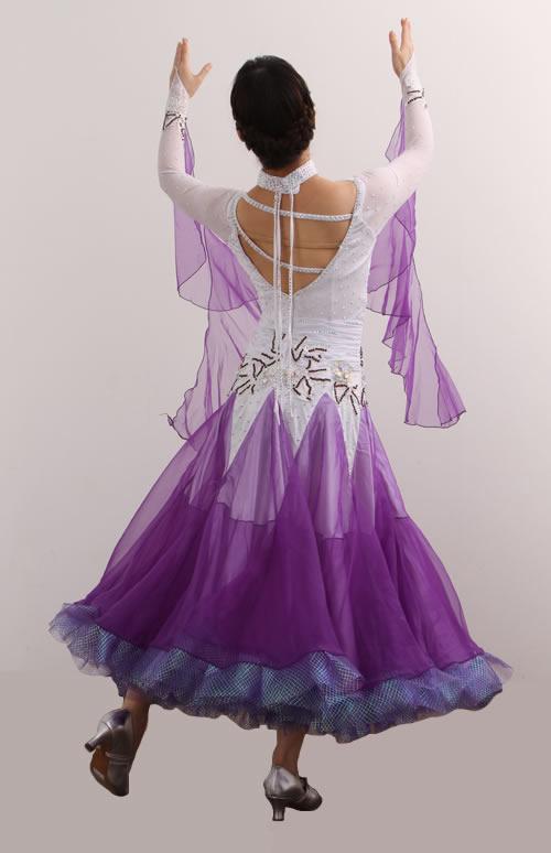 ダンスドレス モダン WQ-MD5-1pl/白+紫