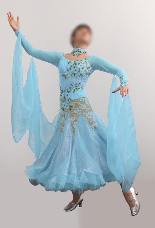 ダンスドレス モダン WQ-MD7-1pb/水色