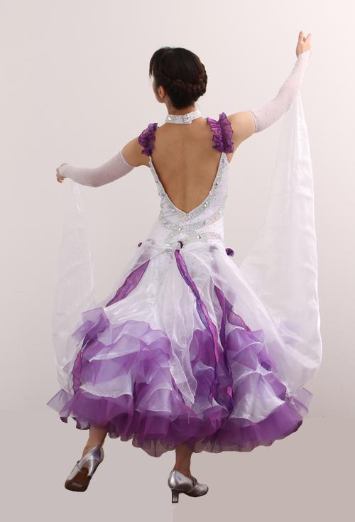 ダンスドレス モダン WQ-MD10-1wp/白+紫