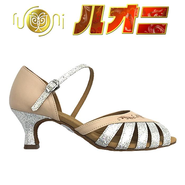 ルオニ ダンスシューズ  女性ラテン・兼用シューズFP1008SLG2-A 【セミオーダー】