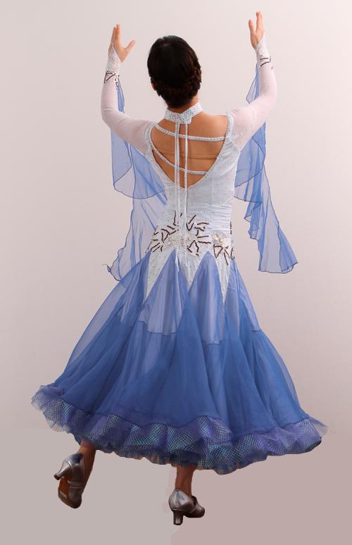 ダンスドレス モダン WQ-MD5-1bl/白+青
