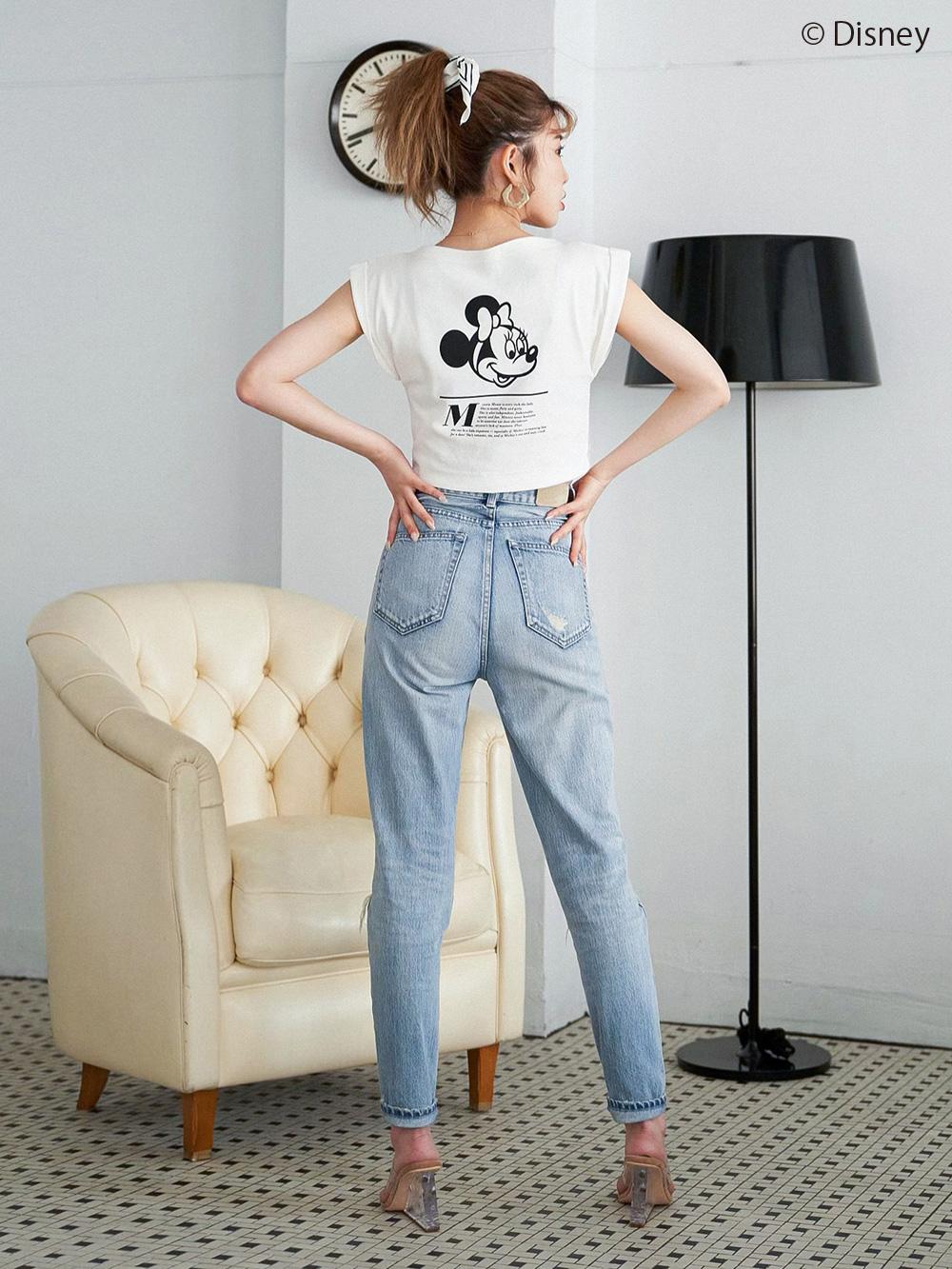 ロールアップショートTシャツ