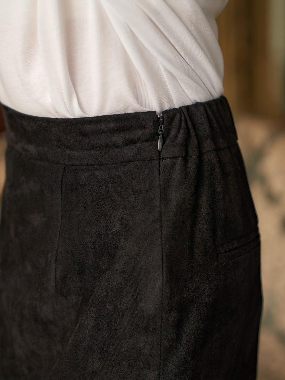スリットスウェードスカート