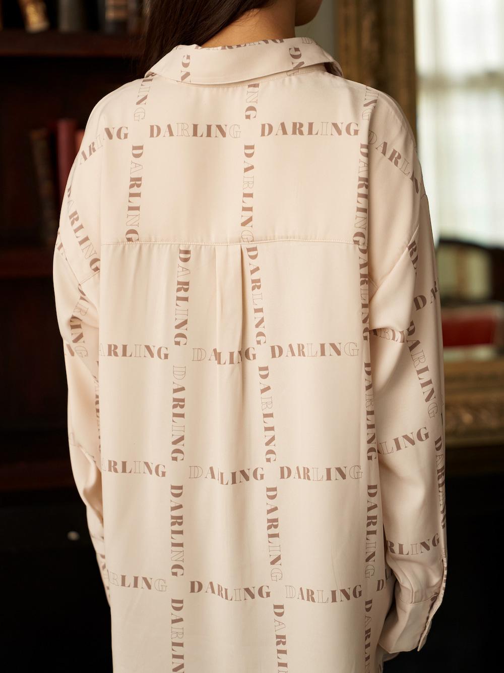 DARLINGロゴビッグシャツ