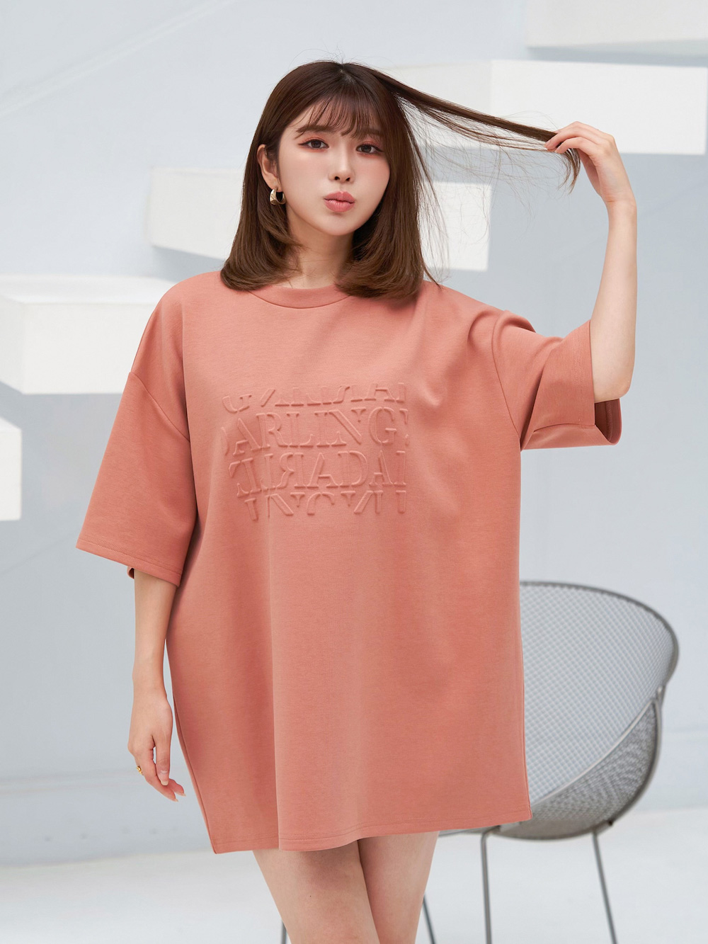 エンボスビッグTシャツ
