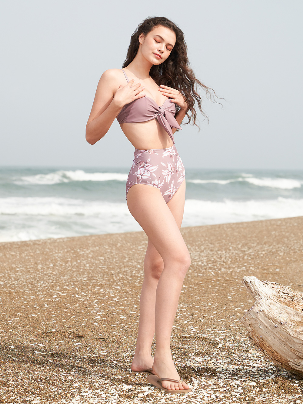 Callie nude pink bikini