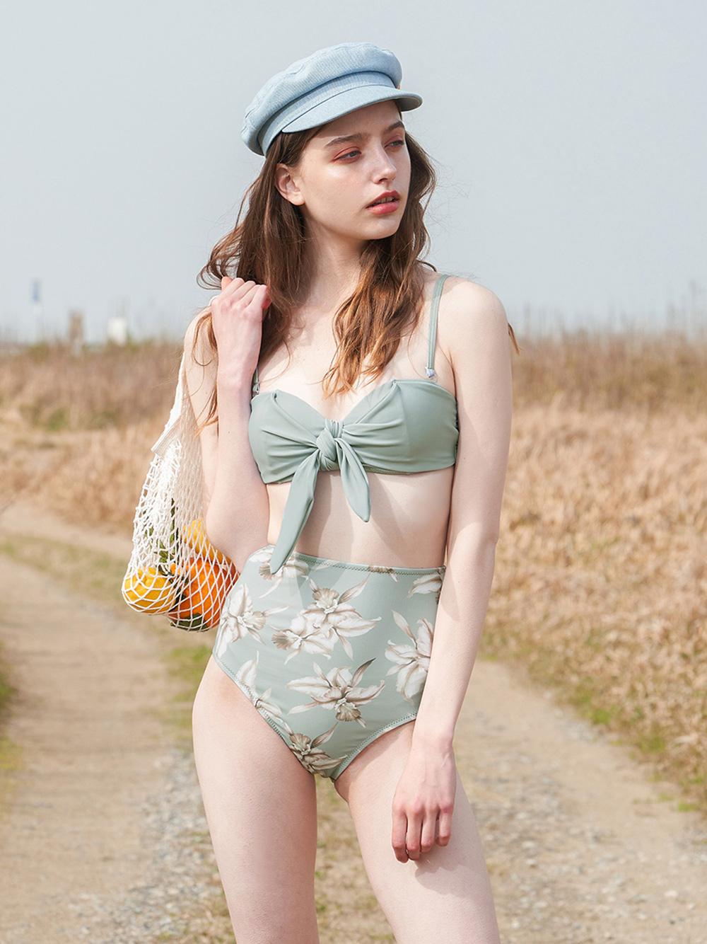 Callie dull mint bikini